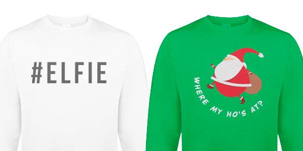 Jerseys navideños de Santa Claus y Rudolf a buen precio
