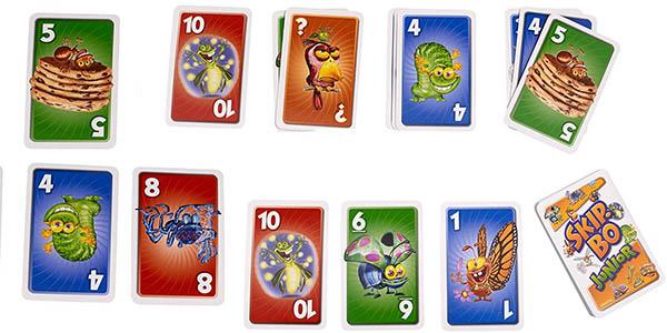 juego cartas infantil mattel skip-bo