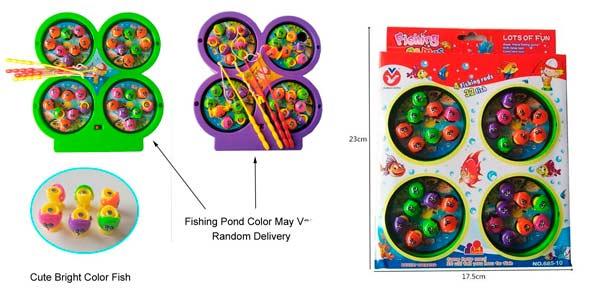 Juego de pesca portátil magnético para niños
