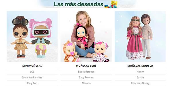 juguetes muñecos y regalos Navidad infantiles con regalo en El Corte Inglés