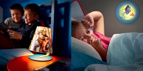 Lámparas infantiles y luces nocturnas LED Philips en Amazon a buenos precios