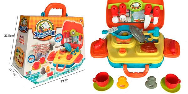 kit de cocinitas infantil pequeño con utensilios a buen precio en Amazon