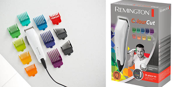maquina cortapelo remington colourcut 9 peines accesorios
