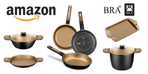Sartenes, cazuelas, cazos y grills de la marca BRA Terra con descuento en Amazon