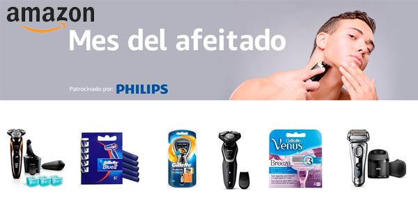 Mes del afeitado en Amazon con descuentos y saldo de regalo en productos Phillips