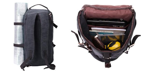mochila de viaje con bandolera barata en Amazon