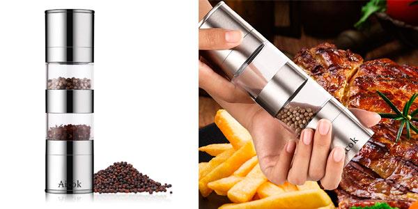 Molinillo manual para moler sal, pimienta y especias a buen precio en Amazon