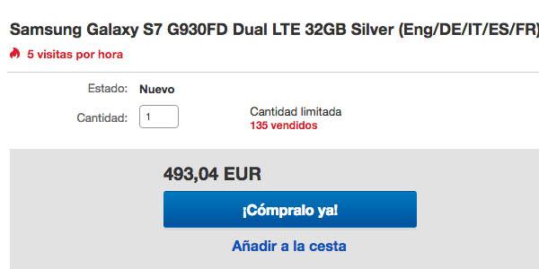Samsung S7 Black Friday ebay