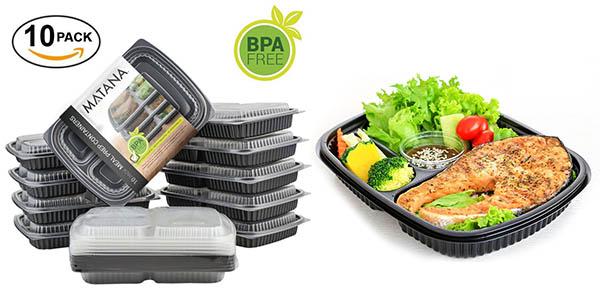 pack bandejas bento box reutilizables