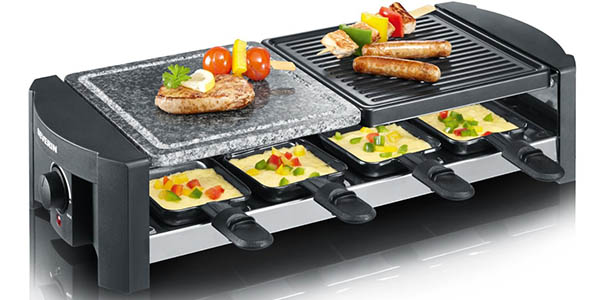 plancha electrica grill piedra raclette severin