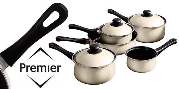 premier housewares bateria cocina 5 piezas antiadherente barata