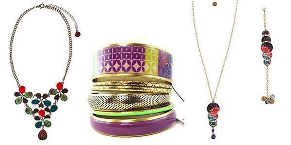 pulseras collares conjuntos bisuteria desigual rebajada