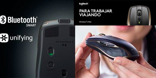 Ratón portátil inalámbrico con bluetooth smart y Unifying Logitech barato en Amazon