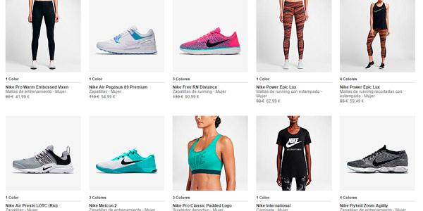 Ropa deportiva de marca Nike barata con descuento