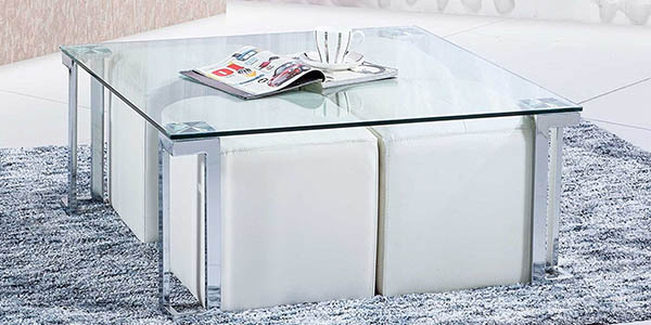 sedutahome mesa centro salon cristal metal
