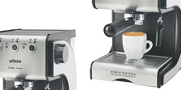 ufesa ce7141 cafetera automatica 2 tazas calentador leche