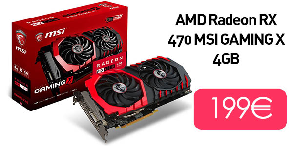 AMD Radeon RX 470 MSI GAMING X 4GB