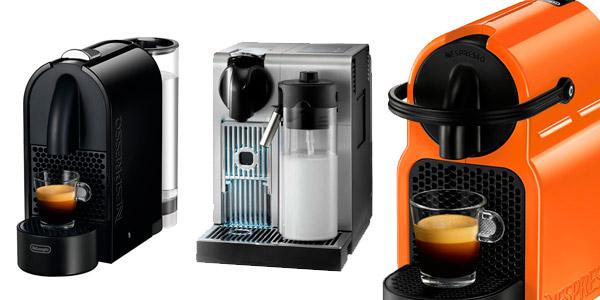 Descuentos en cafeteras DeLonghi y Krups en El Corte Inglés y regalo de cápsulas de café