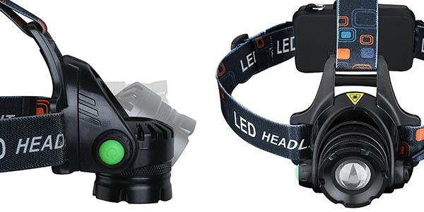Frontal LED VicTsing con pilas recargables