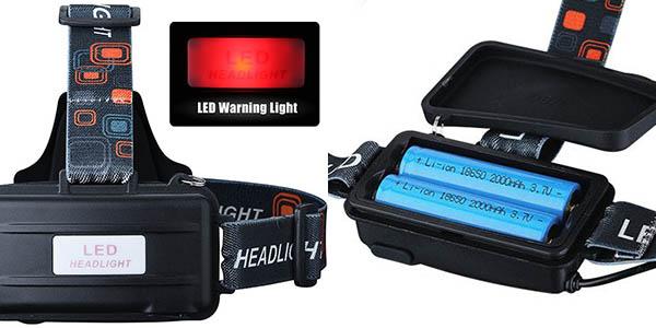 Linterna LED frontal barata