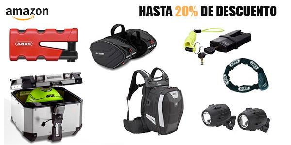 Hasta un 20% de descuento en artículos para moto en Amazon España