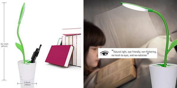 lampara escritorio flor LED varias posiciones