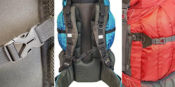 mochila para excursiones y travesias ligera varios compartimentos
