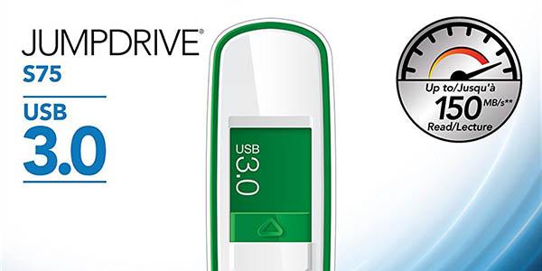 Lexar JumpDrive S75 de 64GB barata