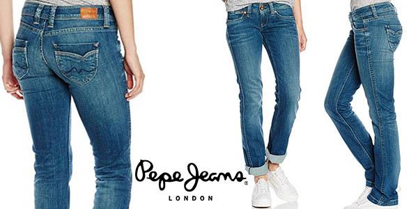 pepe jeans banji vaqueros mujer baratos