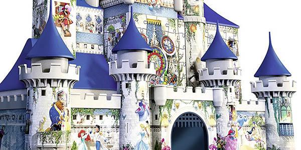 puzzle 3 dimensiones castillo personajes peliculas disney