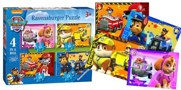 ravensburger 4 puzzles patrulla canina baratos