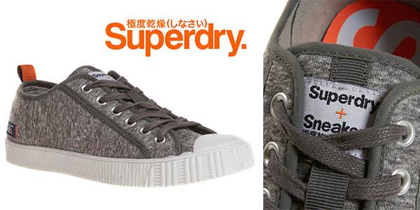 superdry super low gris marga zapatillas diseño casual hombre baratas