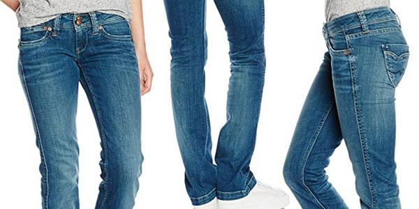tejanos mujer pepe jeans banji tiro bajo
