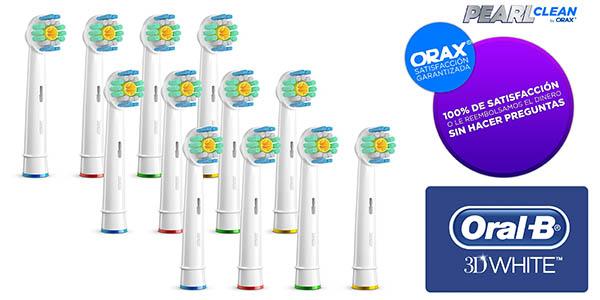 12 recambios cabezales Oral-B 3D White compatibles gran calidad baratos