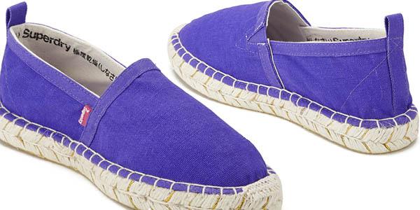 alpargatas superdry fluro purple diseño casual comodas