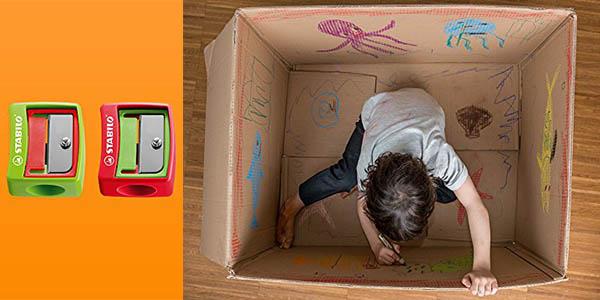 caja colores sacapuntas stabilo woody 10 unidades precio brutal