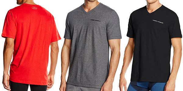 camisetas tecnicas colores under armour charged cotton v relacion calidad-precio espectacular