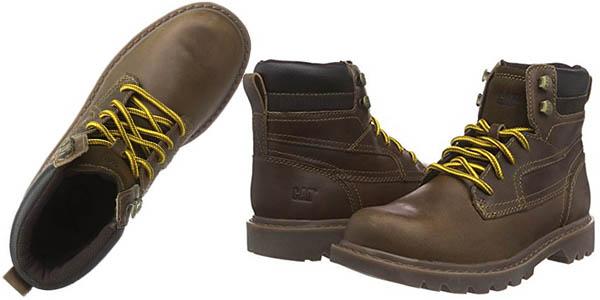 caterpillar chukka botas media caña cuero cordones relacion calidad-precio brutal