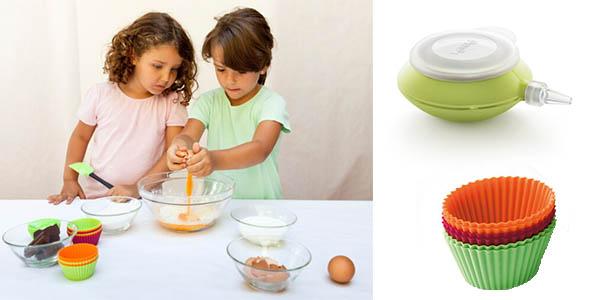 conjunto Lékué muffins & Kids cocinar con niños