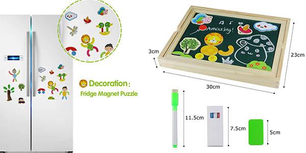 divertida pizarra para niñ@s con piezas de madera resistentes barata