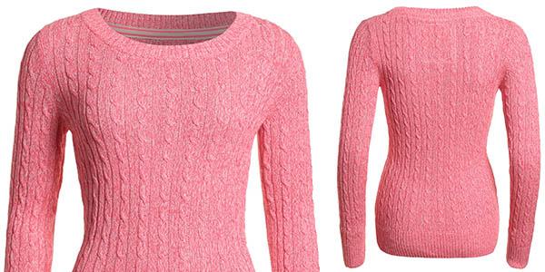 jersey trenzado mujer superdry relacion calidad-precio brutal