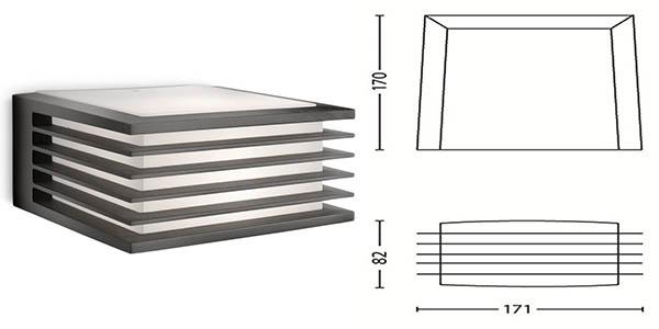 lampara exterior resistencia inclemencias metereológicas philips ecomoods shades diseño contemporáneo