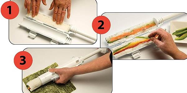molde sushi plástico sencillo rápido