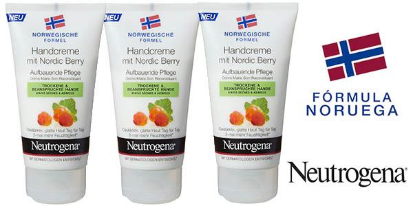 neutrogena nordic berry crema manos pack 3 botes 75 ml barato