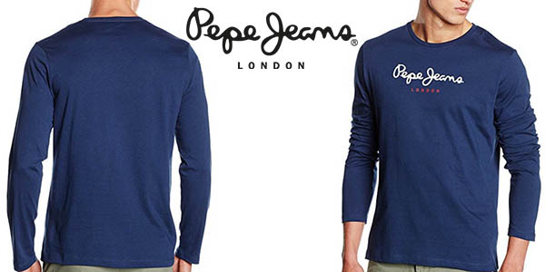 pepe jeans eggo camiseta manga larga hombre barata