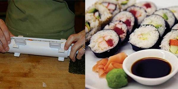 preparar sushi casero molde rollo plástico precio brutal
