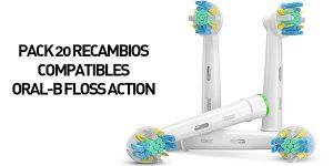Pack 20 recambios compatibles Oral-B