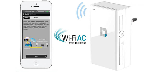 Repetidor WiFi D-Link DAP-1520 Dual Band