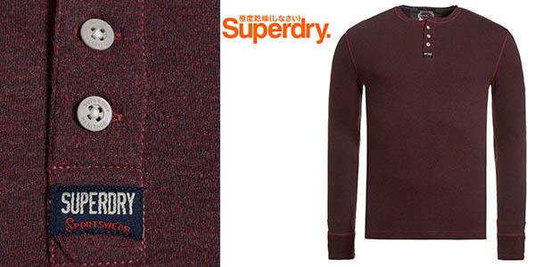 superdry top heritage grandad rusty rot grindle camiseta hombre barata