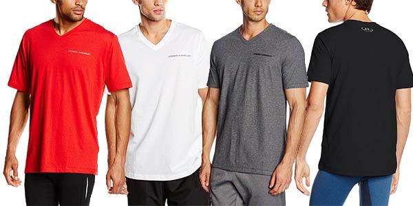 under armour charged cotton V camiseta algodón hombre barata